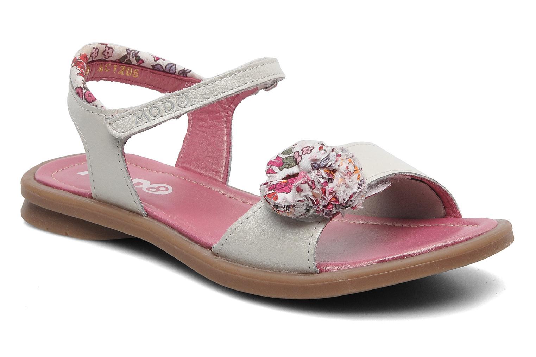 Sandales et nu-pieds Mod8 Jalouse E Blanc vue détail/paire