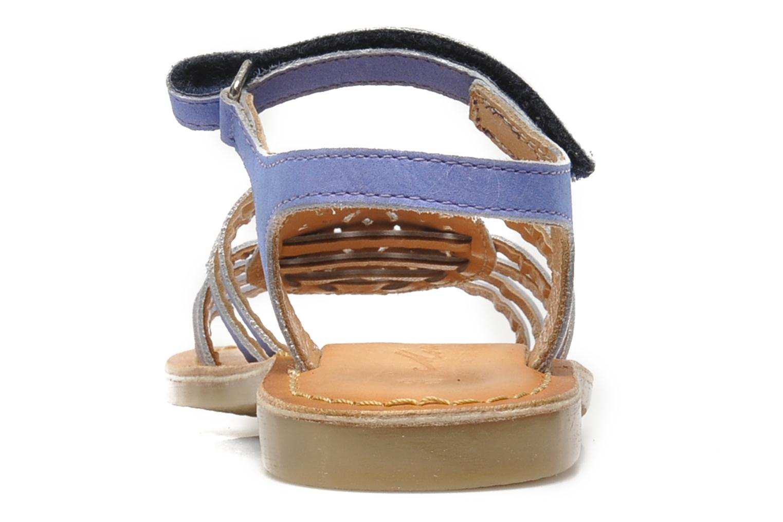 Sandales et nu-pieds Mod8 ZEN Bleu vue droite