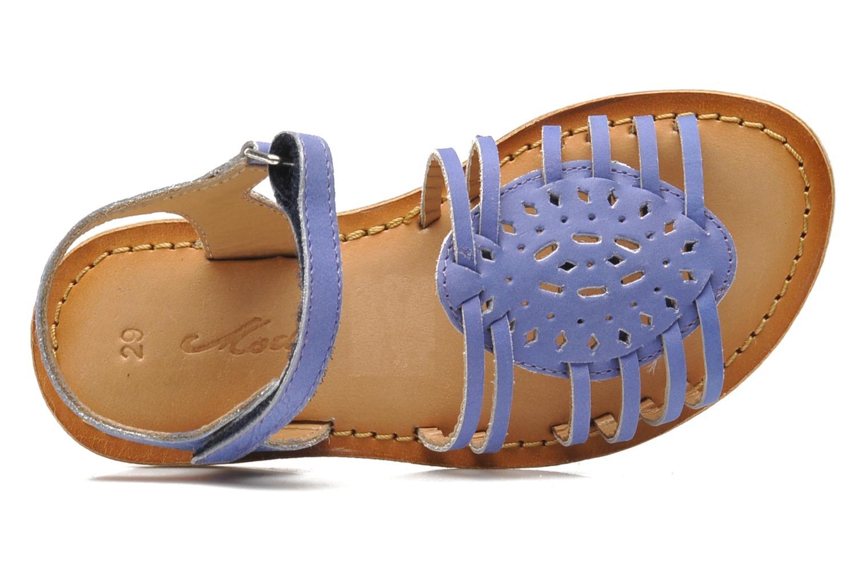 Sandales et nu-pieds Mod8 ZEN Bleu vue gauche