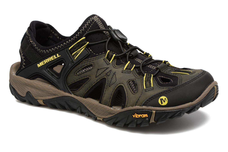 Sportssko Merrell Allout Blaze Sieve Sort detaljeret billede af skoene