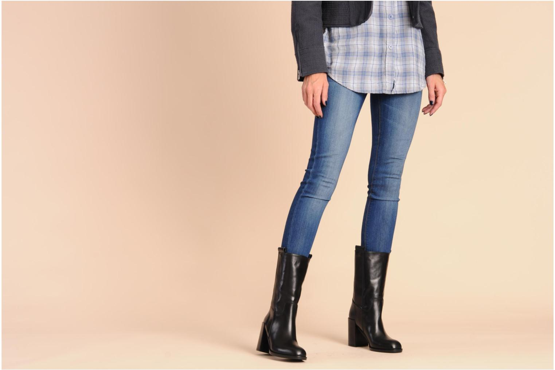 Stiefeletten & Boots Kallisté 5070 schwarz ansicht von unten / tasche getragen