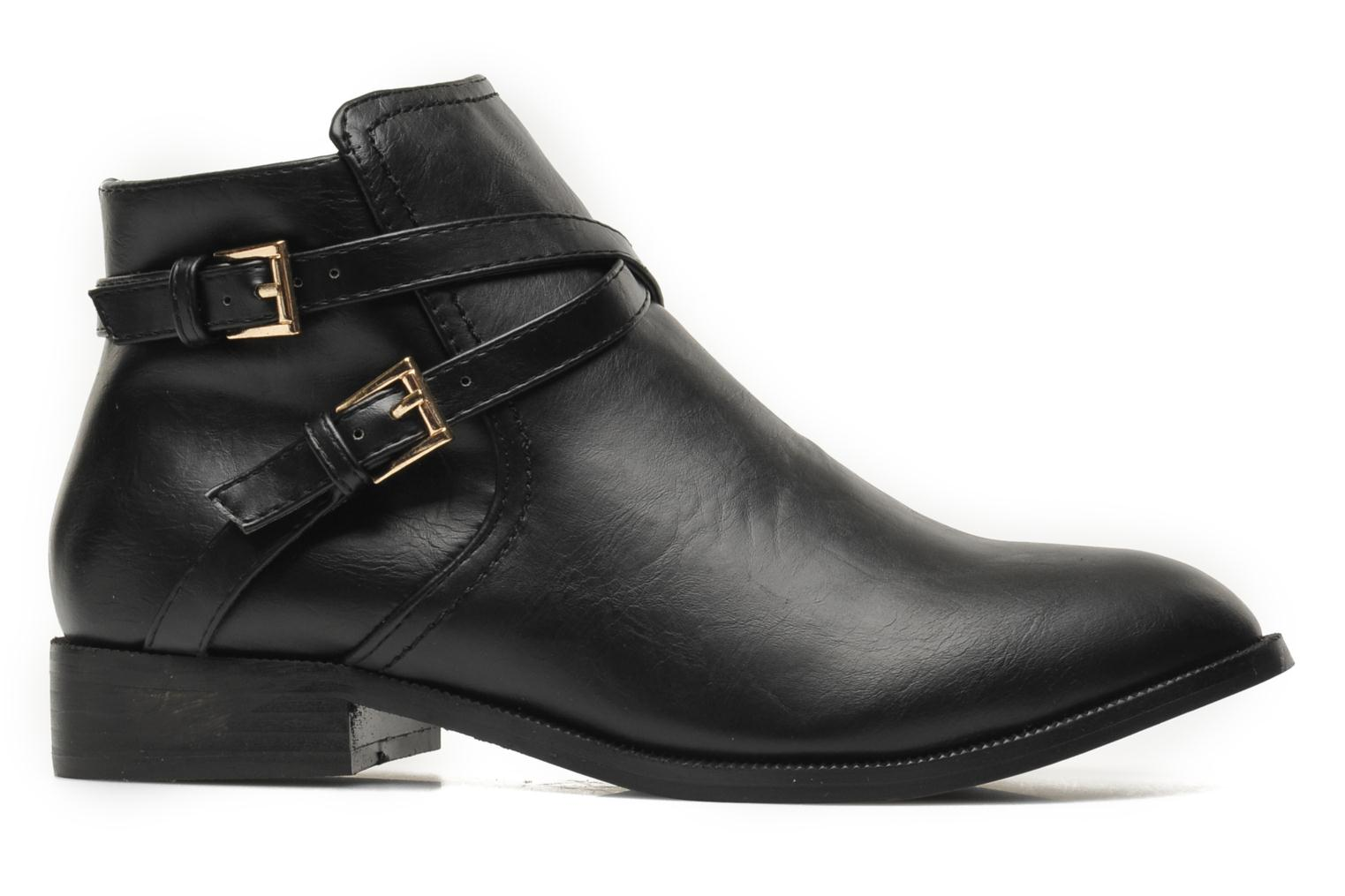 Ankle boots Divine Factory D-cable Black back view