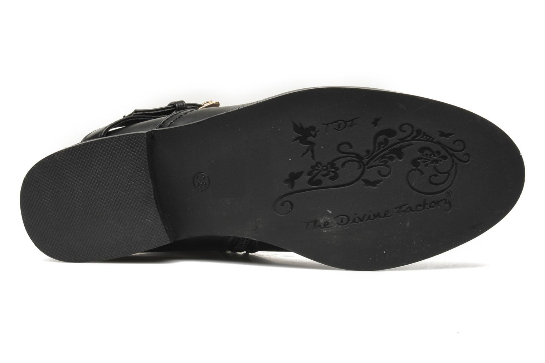 Boots en enkellaarsjes Divine Factory D-cable Zwart boven
