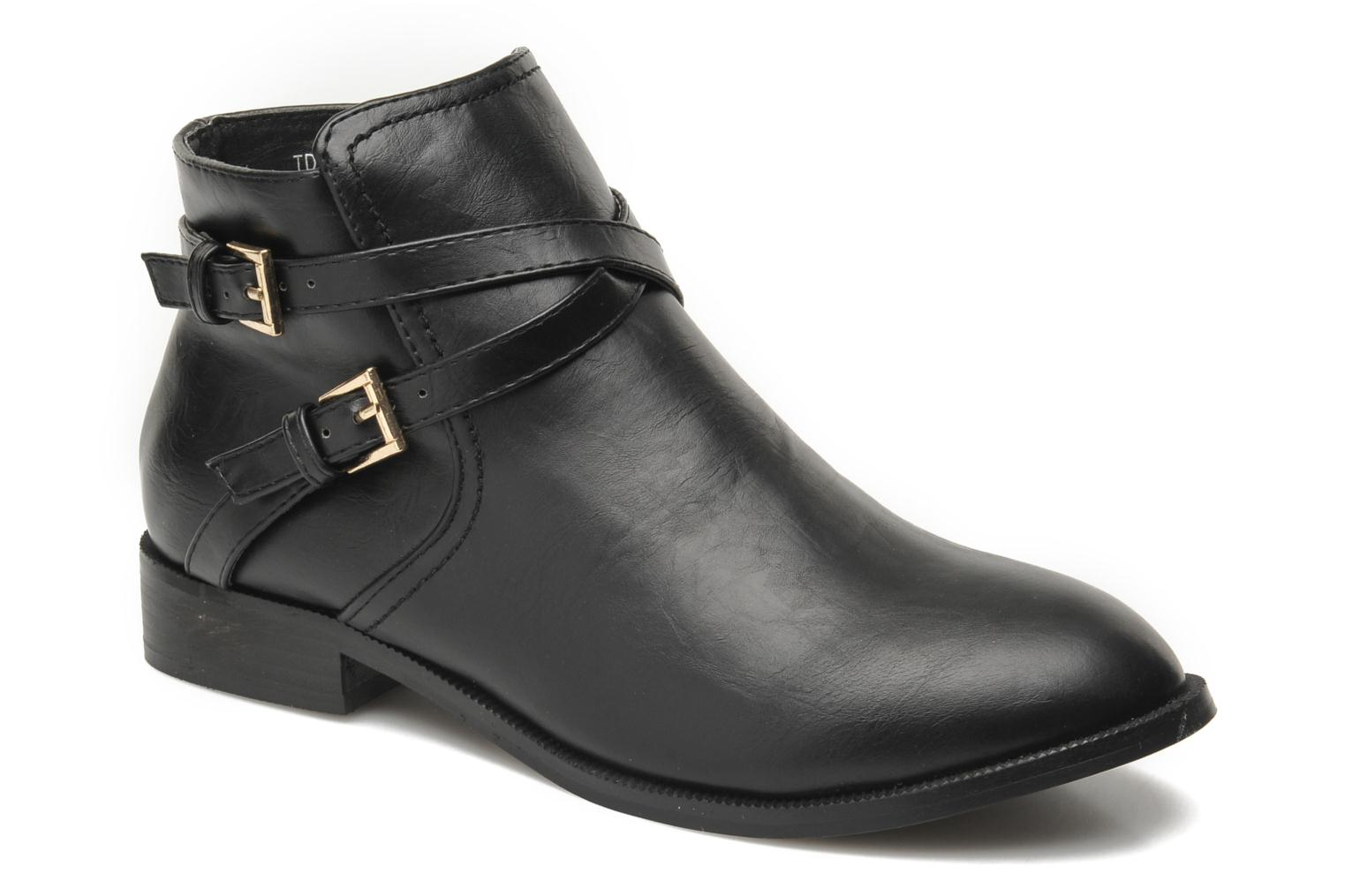 Ankle boots Divine Factory D-cable Black detailed view/ Pair view