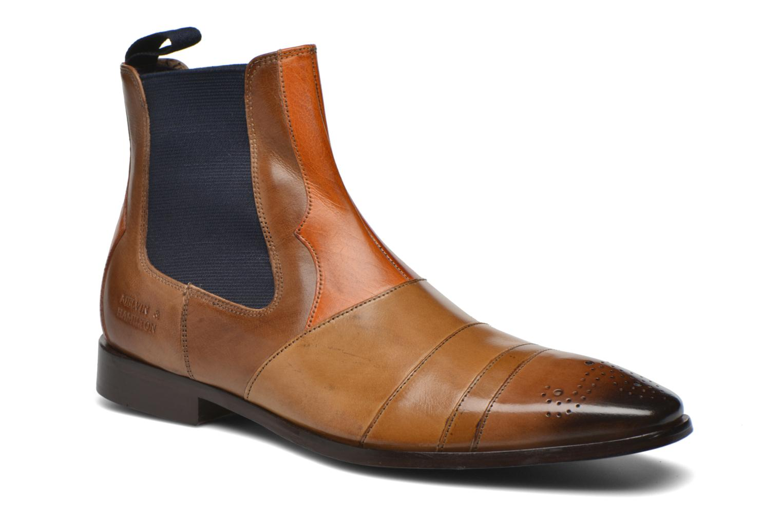 Marques Chaussure homme Melvin & Hamilton homme Elvis 12 Classic mid brown Ash and Orange El navy