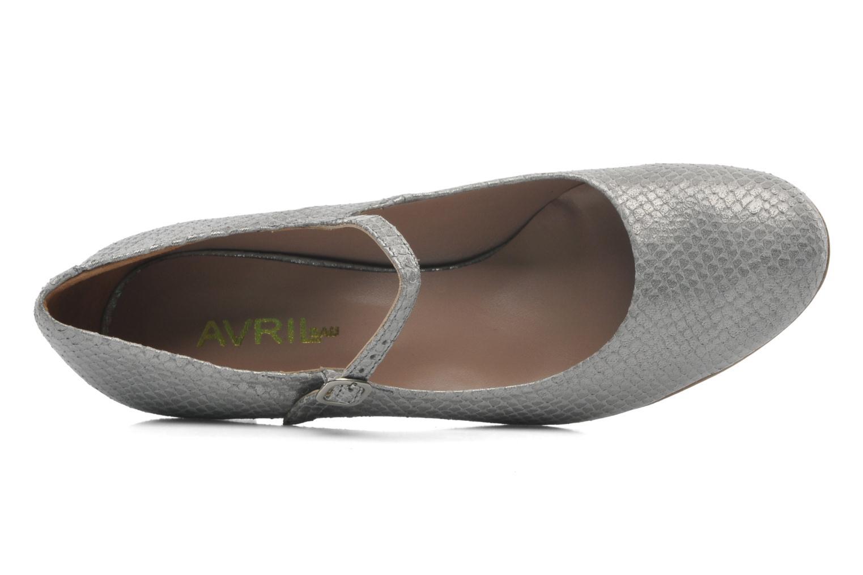 Zapatos de tacón Avril Gau Rossy Plateado vista lateral izquierda