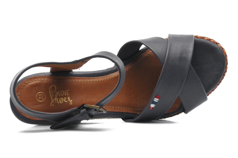 Sandales et nu-pieds I Love Shoes Suradoo Bleu vue gauche