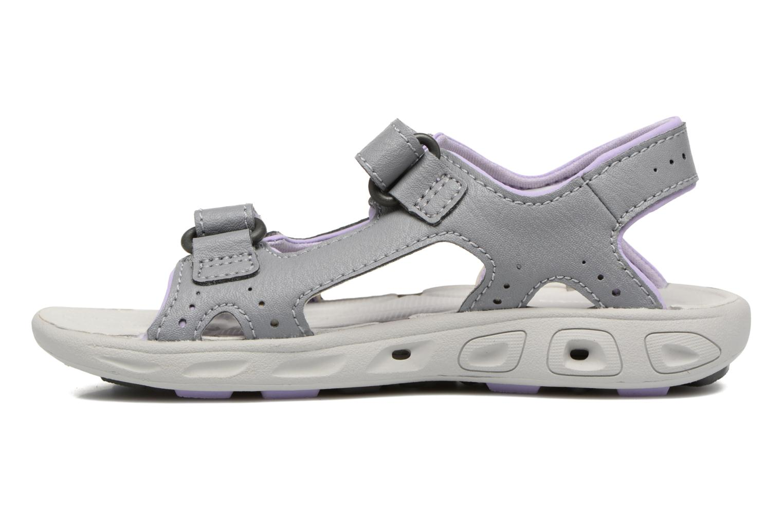 Sandalias Columbia Childrens Techs Gris vista de frente
