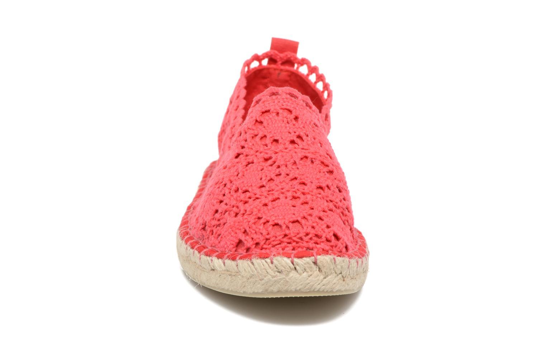 Espadrilles Colors of California Lara Rouge vue portées chaussures