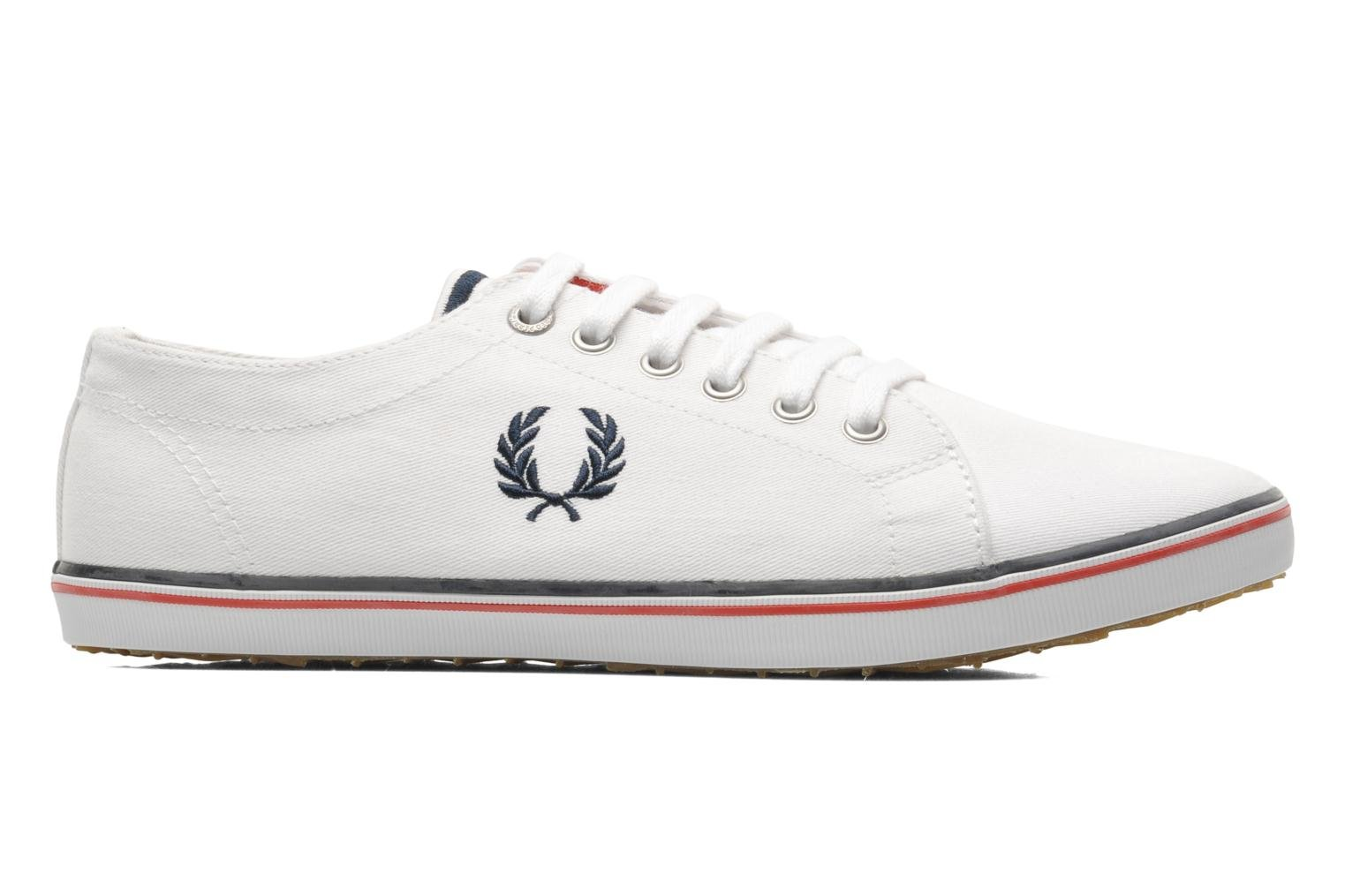 Baskets Fred Perry Kingston Twill Blanc vue derrière