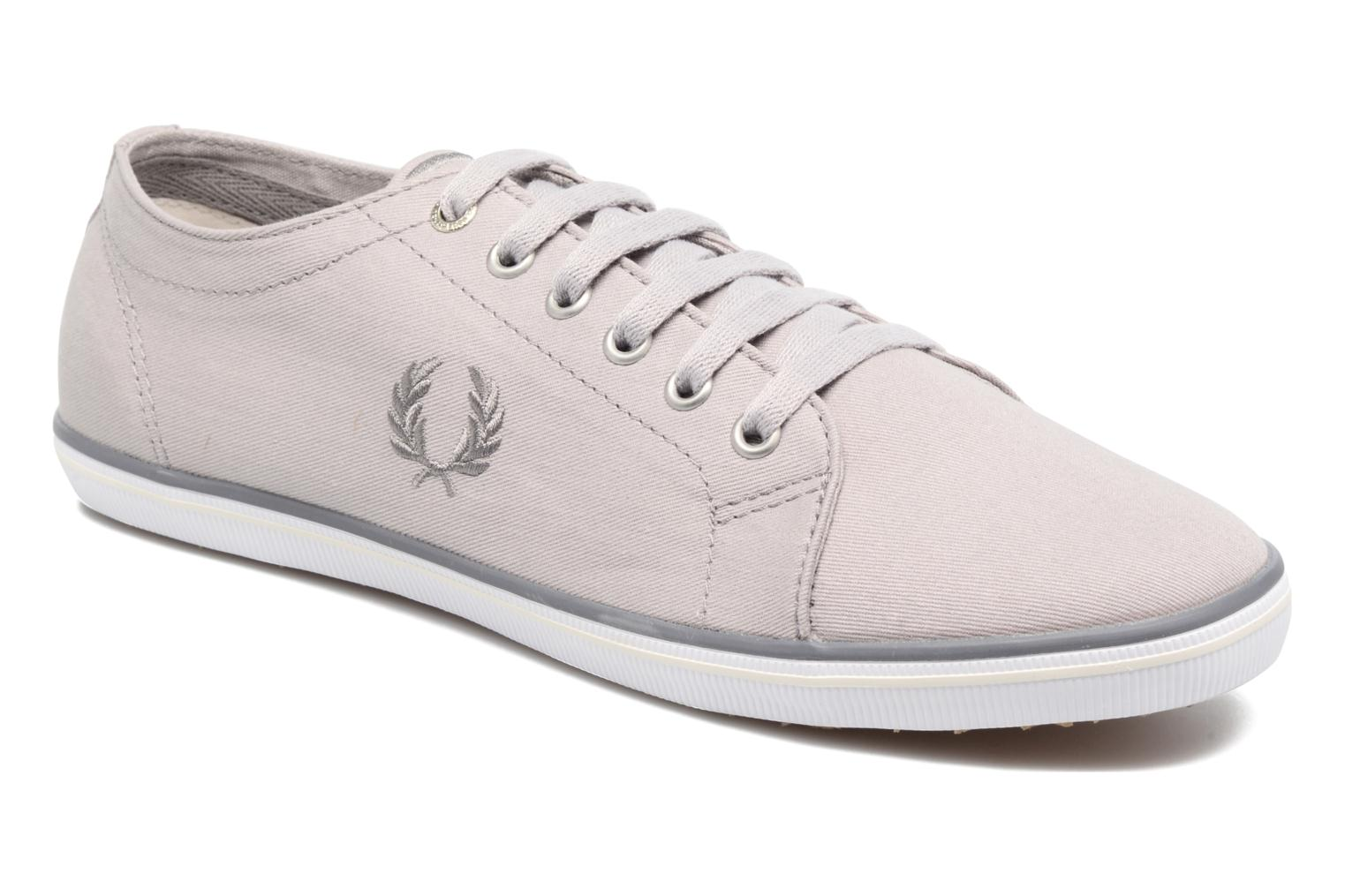 Baskets Fred Perry Kingston Twill Gris vue détail/paire