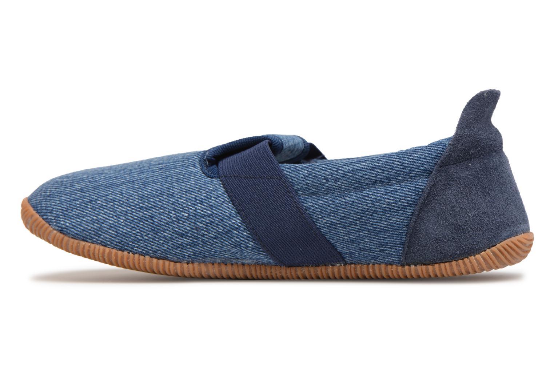 Pantofole Giesswein Söll Slim Fit Azzurro immagine frontale