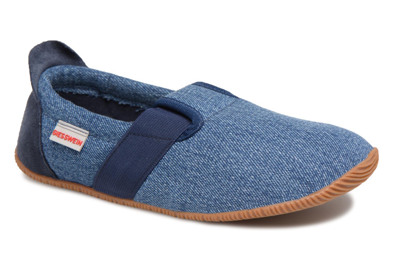 Pantoffels Giesswein Söll Slim Fit Blauw detail