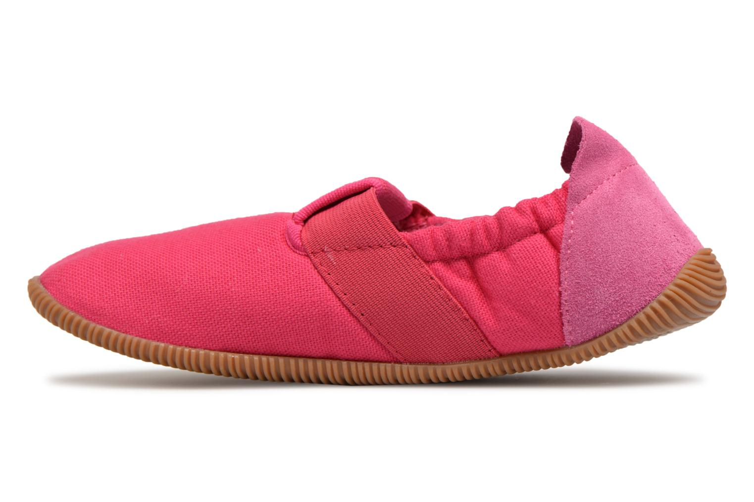 Pantofole Giesswein Söll Slim Fit Rosa immagine frontale
