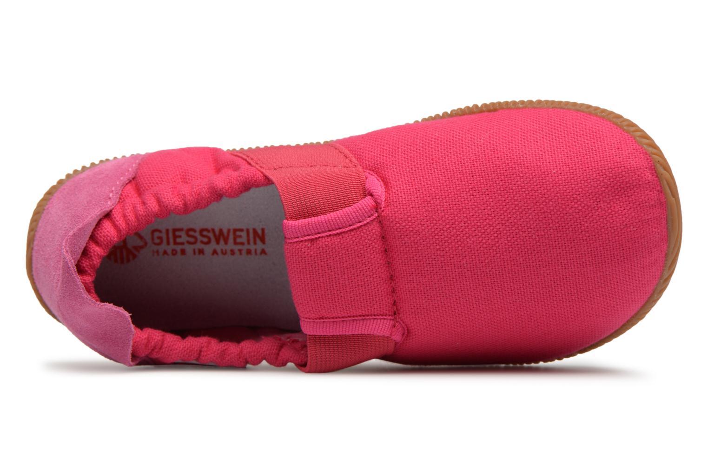 Pantofole Giesswein Söll Slim Fit Rosa immagine sinistra