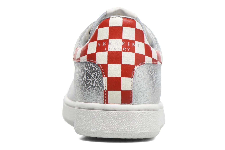 Baskets Serafini J.Connors Argent vue droite