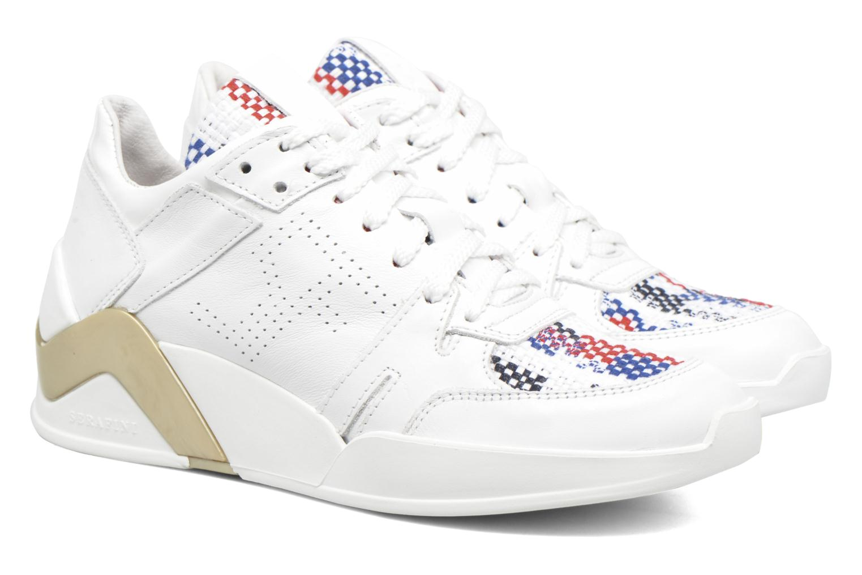 Baskets Serafini Chicago Blanc vue 3/4