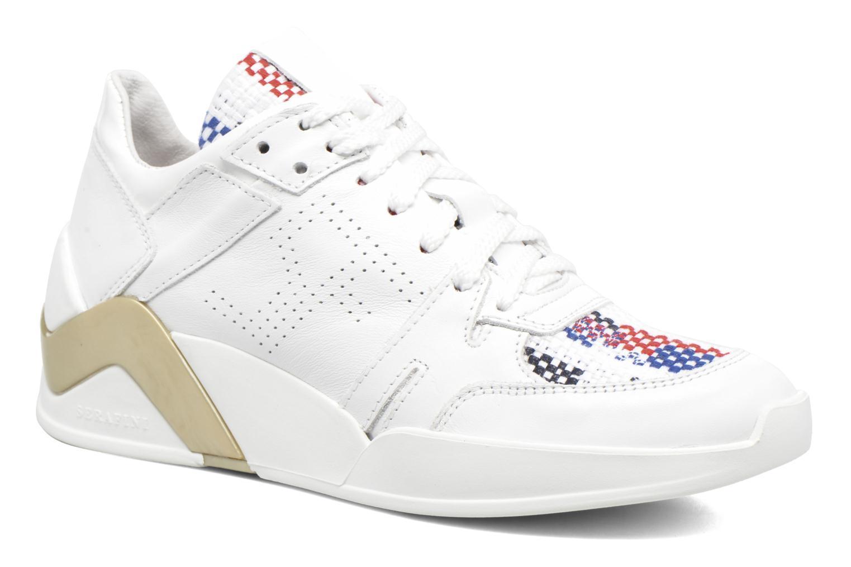 Baskets Serafini Chicago Blanc vue détail/paire