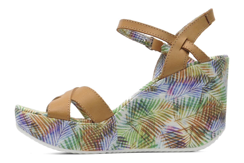 Sandales et nu-pieds Coolway Galatea Marron vue face