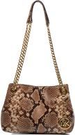 Diamante embossed Python Dark khaki