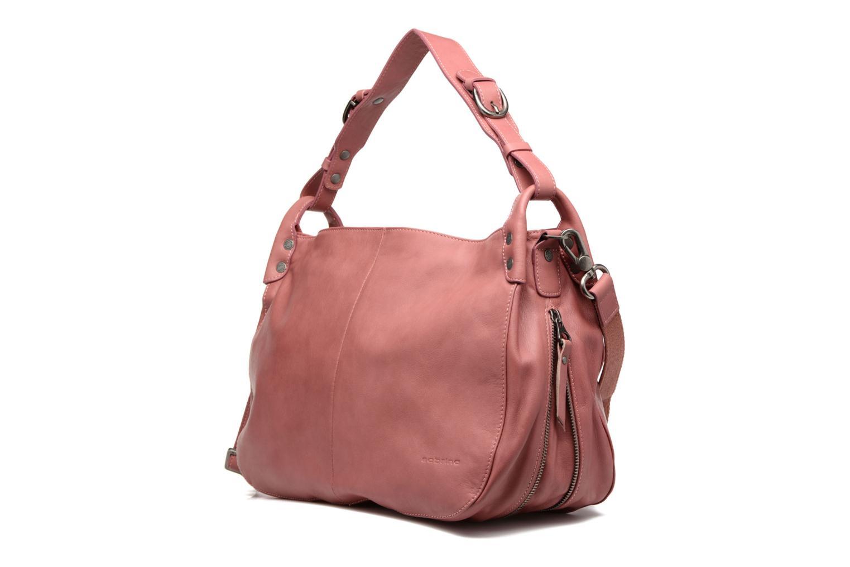 Handtaschen Sabrina Candice rosa ansicht von links