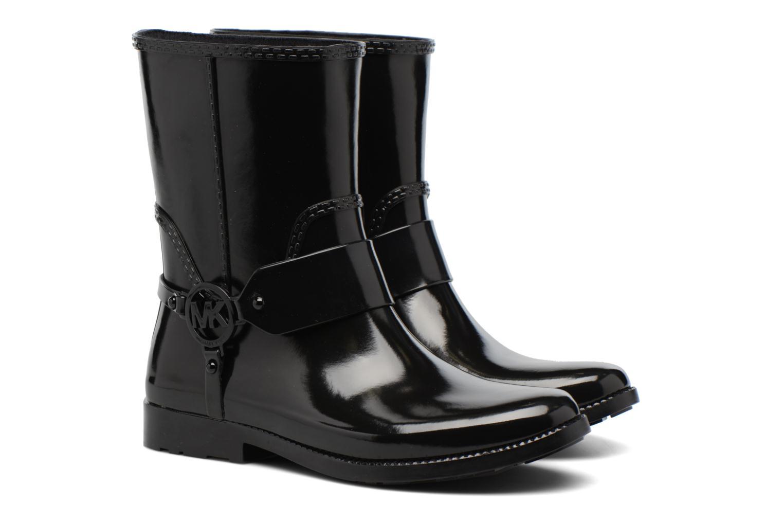 Bottines et boots Michael Michael Kors Fulton Harness Rainbootie Noir vue 3/4