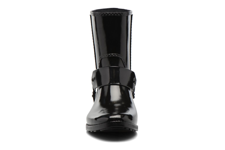Ankelstøvler Michael Michael Kors Fulton Harness Rainbootie Sort se skoene på