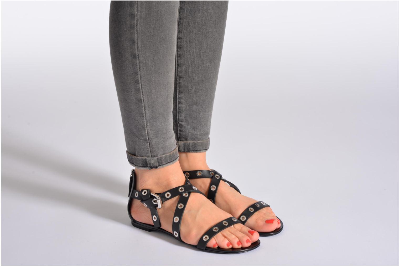 Sandales et nu-pieds Vicini Lazarus Noir vue bas / vue portée sac
