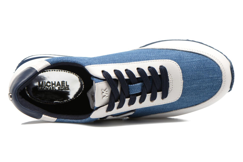 Baskets Michael Michael Kors Stanton trainer Bleu vue gauche