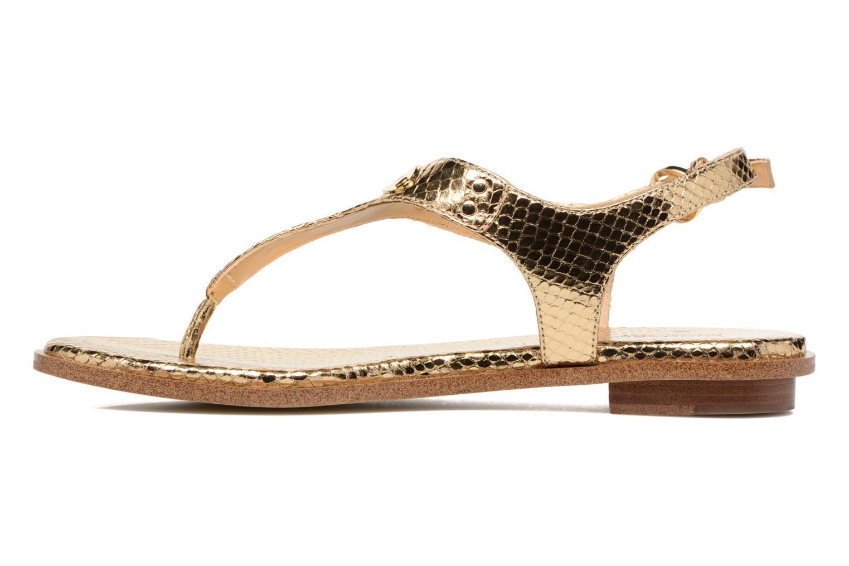 Sandales et nu-pieds Michael Michael Kors MK Plate Thong Or et bronze vue face
