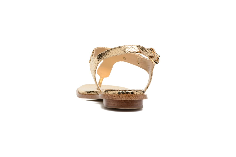 Sandales et nu-pieds Michael Michael Kors MK Plate Thong Or et bronze vue droite