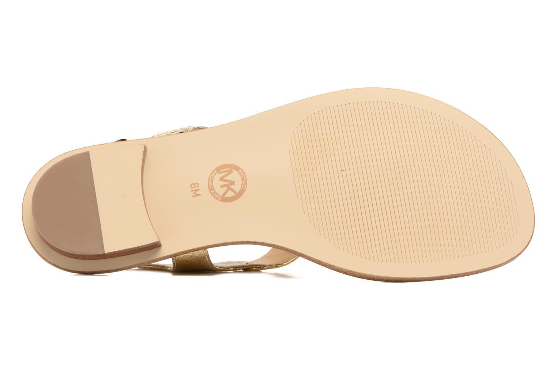 Sandales et nu-pieds Michael Michael Kors MK Plate Thong Or et bronze vue haut