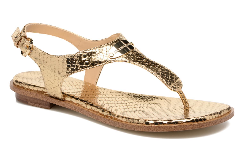Sandaler Michael Michael Kors MK Plate Thong Guld og bronze detaljeret billede af skoene