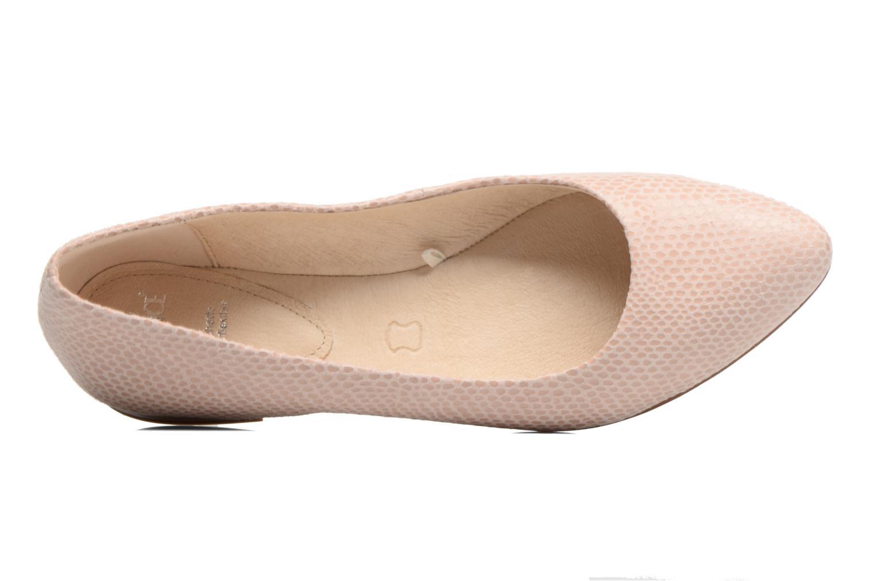Ballerinas Caprice Vinyle rosa ansicht von links