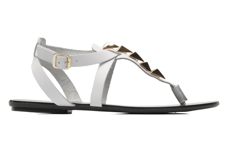 Sandales et nu-pieds Pieces Cathie leather studs Blanc vue derrière
