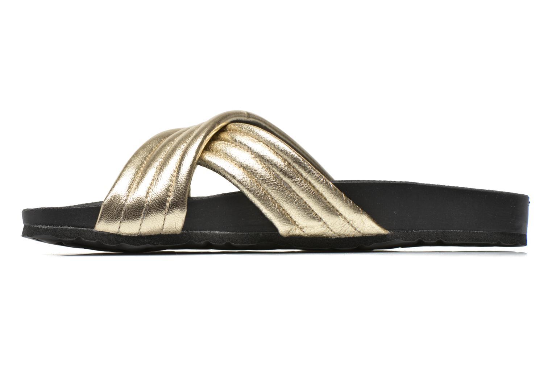 Clogs & Pantoletten Pieces Tahi leather gold/bronze ansicht von vorne