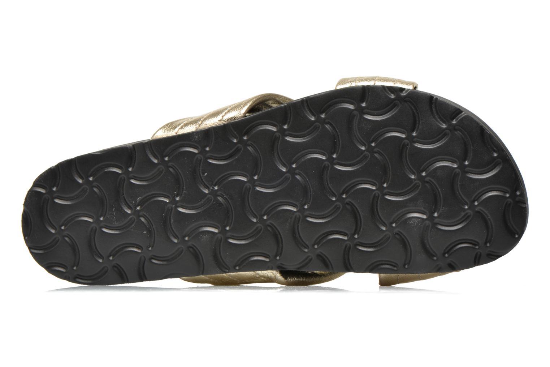 Clogs & Pantoletten Pieces Tahi leather gold/bronze ansicht von oben