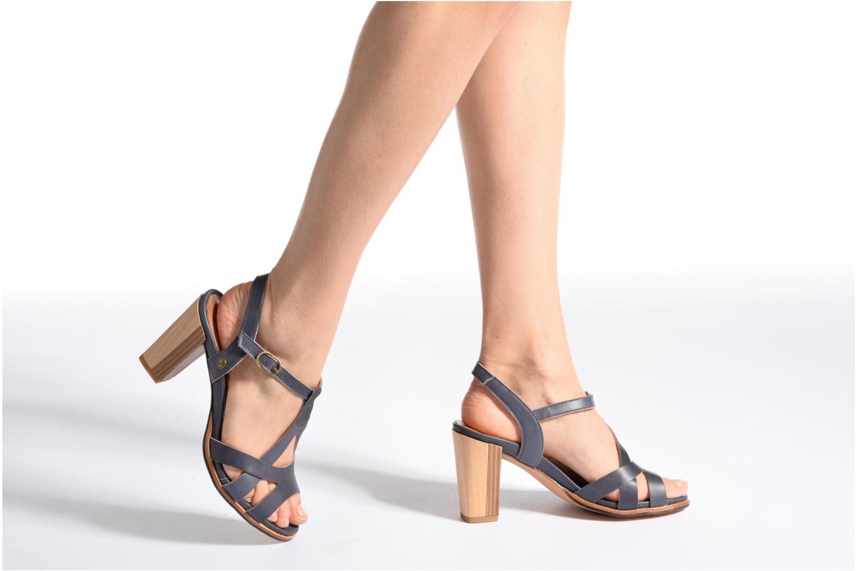 Sandales et nu-pieds Neosens Gloria 193 Gris vue bas / vue portée sac