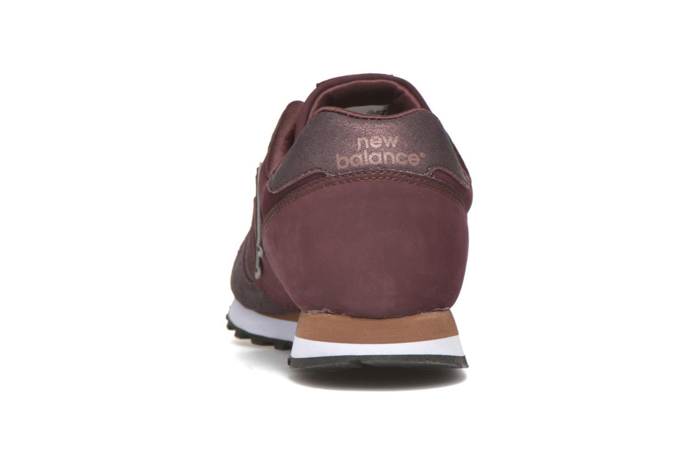 Sneaker New Balance WL373 weinrot ansicht von rechts