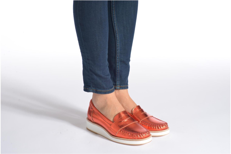 Slipper MAURICE manufacture Basso orange ansicht von unten / tasche getragen