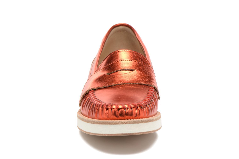 Mocassins MAURICE manufacture Basso Orange vue portées chaussures