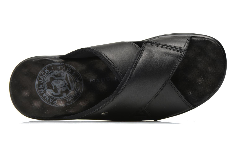 Sandalen Panama Jack Magic schwarz ansicht von links