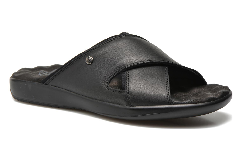Sandals Panama Jack Magic Black detailed view/ Pair view