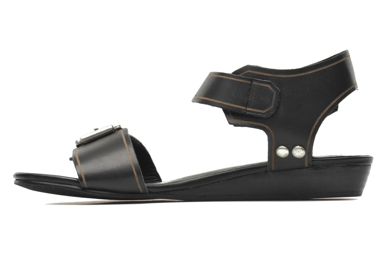 Sandalen SPM Olm schwarz ansicht von vorne