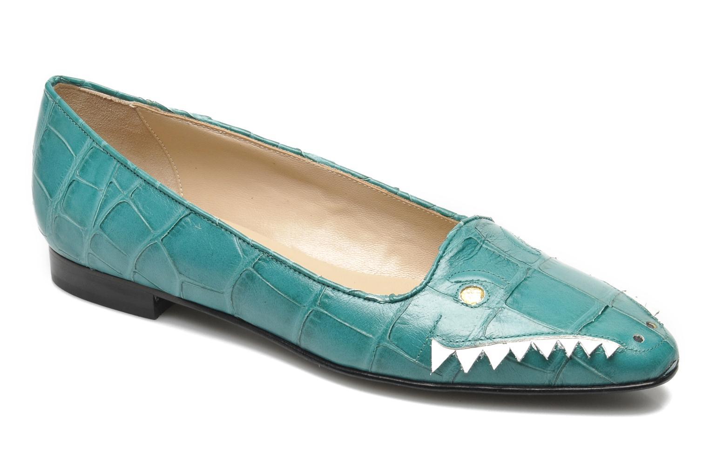 Ballerines Carel Crocodile Vert vue détail/paire
