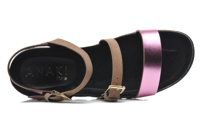 Sandales et nu-pieds Anaki Rio Multicolore vue gauche