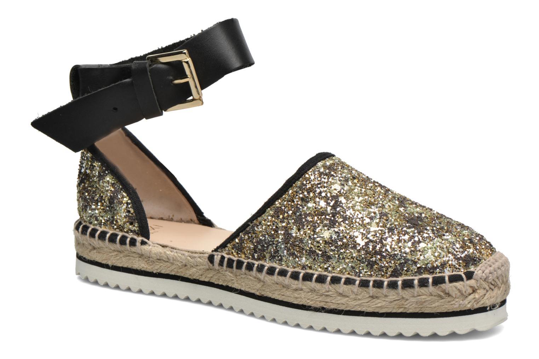 Sandales et nu-pieds Anaki Chica Or et bronze vue détail/paire
