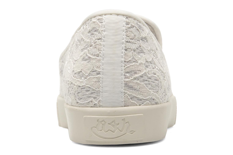 Baskets Ash Illusion Blanc vue droite