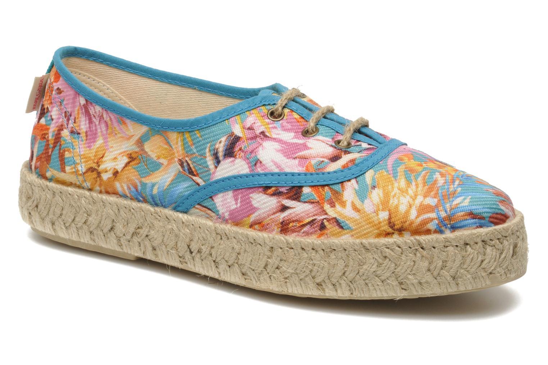 Chaussures à lacets Pare Gabia Lotus toile Multicolore vue détail/paire