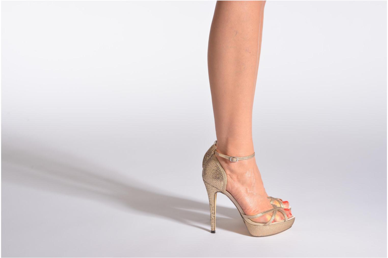 Sandales et nu-pieds Menbur Dahlia Or et bronze vue bas / vue portée sac